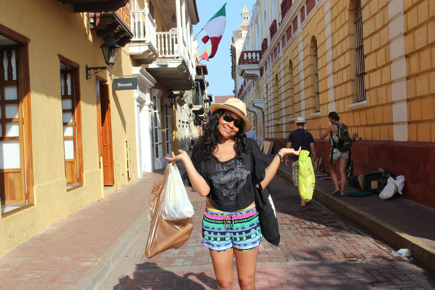 Shopping in Old Town, Cartagena Colombia
