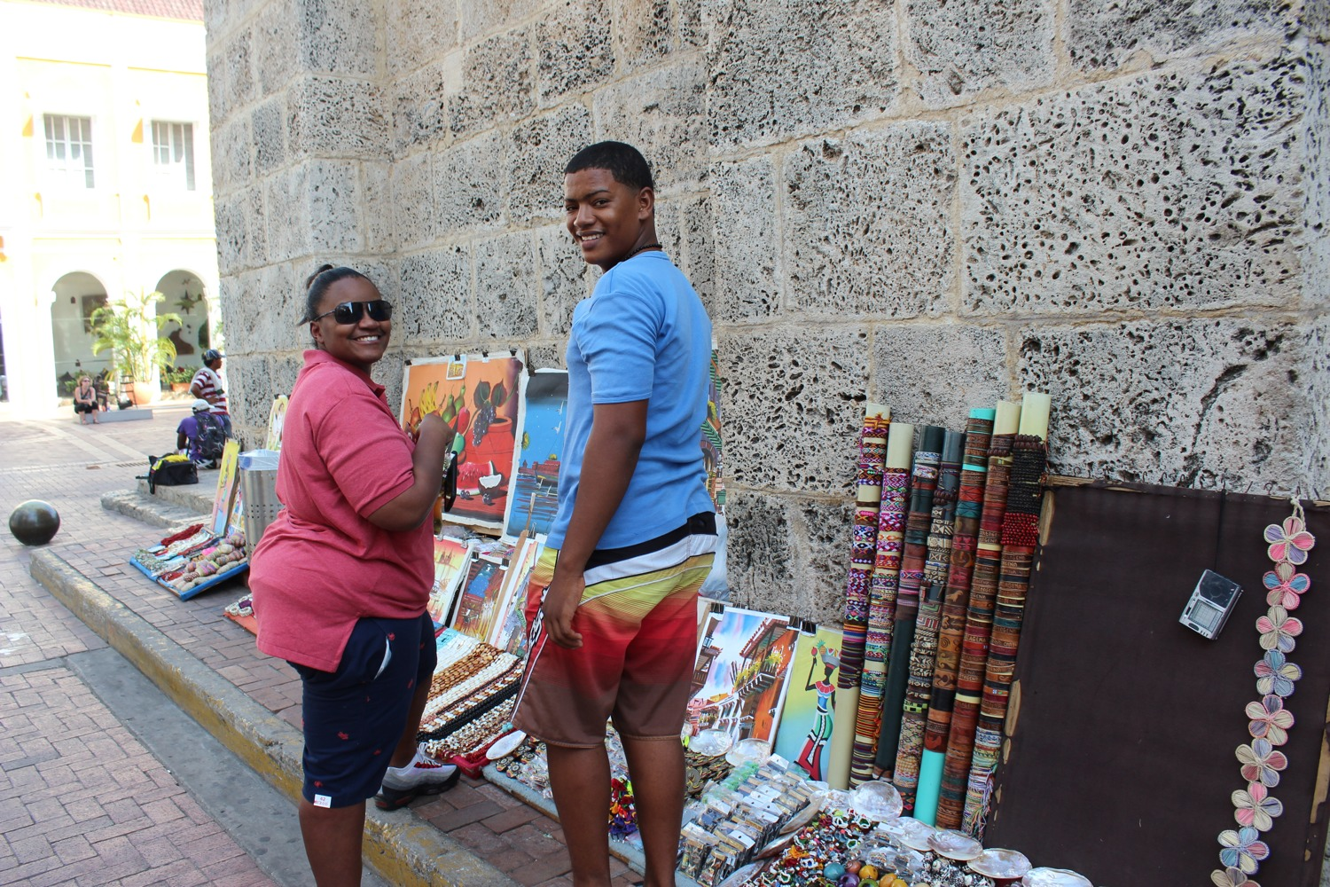 Shopping in Old City, Cartagena Colombia