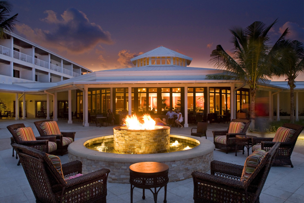 fire pit at hawks cay