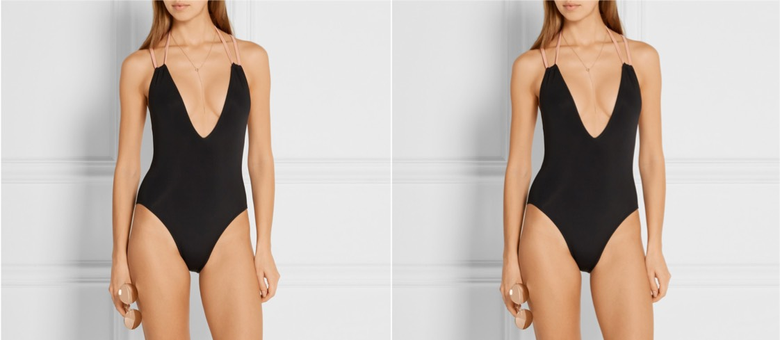 solid and striped alexandra swimsuit